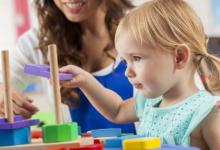 Коррекционное занятие у дефектолога с детьми с ОВЗ.