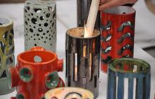 студия керамики - свечи