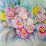 Весенний букет - живопись